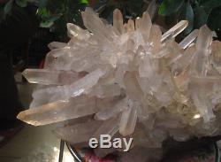 44.29lb NATURAL TIBETAN CLEAR QUARTZ CRYSTAL CLUSTER AWESOME FORM Specimen