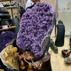 44.33LB Natural Amethyst geode quartz cluster crystal specimen Healing