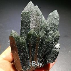 447.6gNatural green, translucent crystal cluster, quartz, mineral samples, China