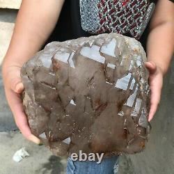 45LB Huge Natural smoky skeleton Quartz Crystal Cluster mineral Specimen healing