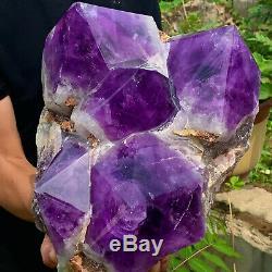 46.6LB Natural Amethyst geode quartz cluster crystal specimen HealingDA994