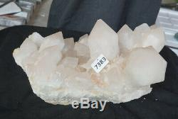 47.4LB 15.3 Natural White Clear Quartz Crystal Cluster Points Original Healing