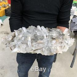 49.28LB Natural Clear Quartz Cluster Mineral Crystal Specimen 23.6 TT512