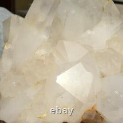 4920g Large Natural Clear White Quartz Crystal Cluster Rough Healing Specimen