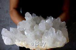 4960g Beautiful Natural Clear Crystal White Quartz Cluster Specimen Tibetan #803