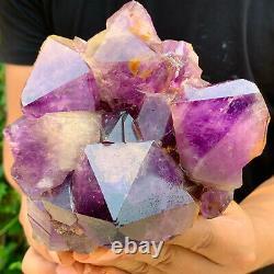 4LB Natural Amethyst geode quartz cluster crystal specimen Healing