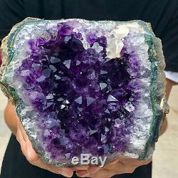 4LB Natural Amethyst quartz cluster crystal polishing specimen Healing