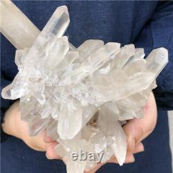 4LB Natural smokey quartz cluster mineral specimen crystal healing DB3701-IA-6