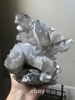 4Lb Smoky Quartz Cluster Phantom Quartz Crystal Double Terminated Brazil
