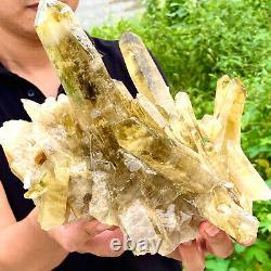 5.08LB Natural Citrine cluster mineral specimen quartz crystal healing F274