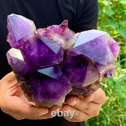 5.11LB Natural Amethyst geode quartz cluster crystal specimen Healing