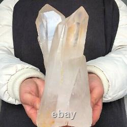 5.1LB Natural Clear Quartz Crystal Cluster Mineral Specimen Healing Reiki P724
