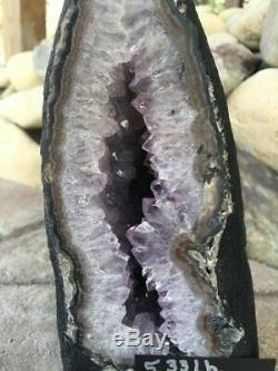 5.3 lb BIG Amethyst Geode, Cathedral Crystal Cluster, Amethyst Uruguay, Dark
