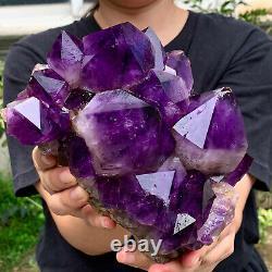 5.4LB Natural Amethyst geode quartz cluster crystal specimen Healing