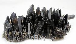 5.72Ib AAA+++ Beautiful Black Quartz Crystal Cluster Specimen Rare