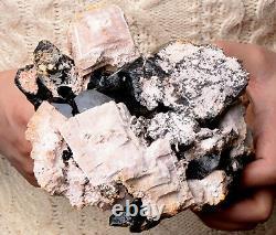 5.81lb Rare Natural Black QUARTZ Crystal Cluster Mineral Specimen