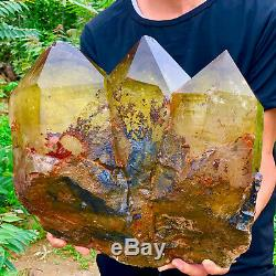 50.32LB Natural citrine Crystal quartz Cluster Mineral Specimen Healing