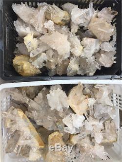 5000g Crystal Clusters 11Lb Lots Natural Clear Quartz Points Brazil