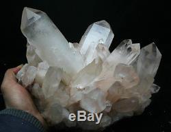 5018g New Find Rare NATURAL White Clear Quartz Crystal Cluster Specimen