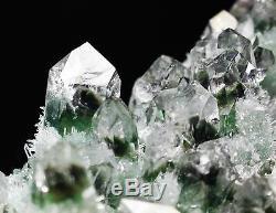 510g New Find Green Phantom Quartz Crystal Cluster Mineral Specimen Healing