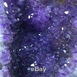 54LB Natural Amethyst geode quartz cluster crystal specimen healing