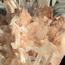 5720g Large Natural Clear Pink Quartz Crystal Cluster Rough Healing Specimen