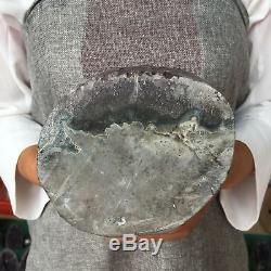 6.77LB Natural Amethyst geode quartz cluster crystal specimen healing AT5353