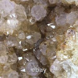 6 Large GEODE Golden Healer Crystal Cluster Natural Citrine Amethyst Quartz KY