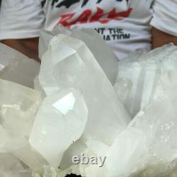 6000g Large Natural Clear White Quartz Crystal Cluster Rough Specimen Healing