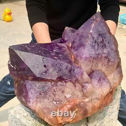61.1LB Natural Amethyst geode quartz cluster crystal specimen Healing