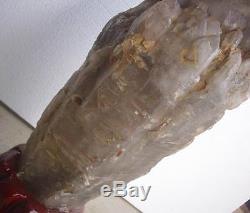 62.6lb Rare Huge Unique Natural Skeletal Quartz Crystal Cluster Points Original