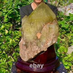 63.8LB Wholesale Natural smokey citrine quartz cluster crystal vuq point healing