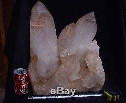 65.8lb Large Natural Clear Quartz Crystal Cluster Points