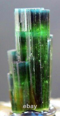 66.70 carats Blue Caped Tourmaline DT Cluster crystal from Afghanistan