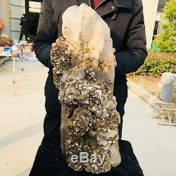 66.88LB Giant natural crystal backbone quartz mica cluster sample K4