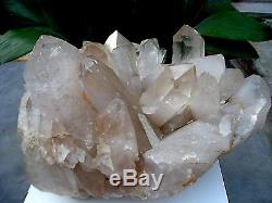 67.4lb HUGE NATURAL Clear quartz crystal cluster point Specimens