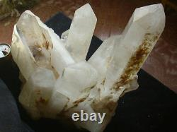 67.7LB LARGE NATURAL CLEAR WHITE QUARTZ CRYSTAL CLUSTER POINTS ORIGINAL Tibetan