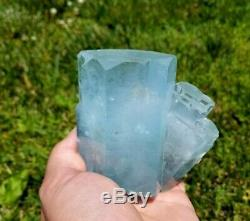 684g Ingrown Mica Aquamarine Crystal Cluster From Nigar/pak