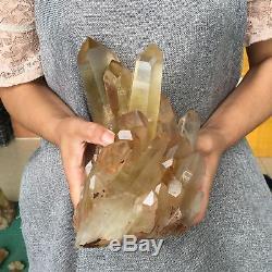 7.01LB Natural citrine quartz cluster Mineral crystal specimen healing AV1834