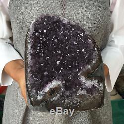 7.12LB Natural Amethyst geode quartz cluster crystal specimen healing AT5392
