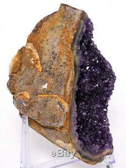 7.4 A++ Purple Amethyst Geode Amethyst Crystal Cluster No Basalt, Free Stand