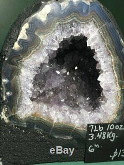7.5 lb BIG Amethyst Geode, Cathedral Crystal Cluster, Amethyst Uruguay, Dark