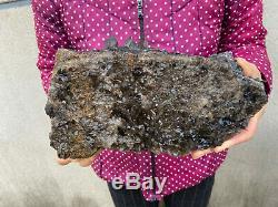 7.8LB Natural Large Smoky Quartz Cluster Healing Crystal Point Mineral Specimen