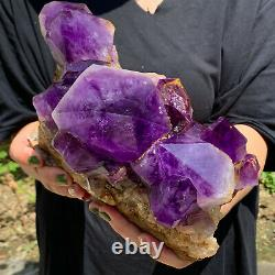 7.92LB Natural Amethyst geode quartz cluster crystal specimen Healing
