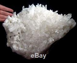 7.93lbs Large Clear Quartz Crystal Cluster Specimen-qzsc2ie0123