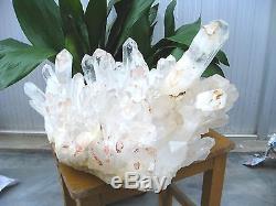 72.24lb HUGE NATURAL CLEAR quartz crystal cluster Point Specimens