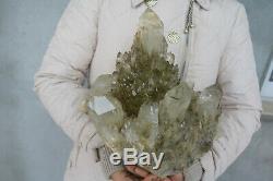 7320g NATURAL Skeletal Smoke Citrine QUARTZ Crystal cluster Tibetan Specimen