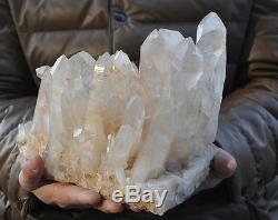 7560g Large nature clear quartz crystal quartz cluster point specimen reiki heal