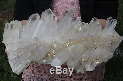 7880g NATURAL Tibetan QUARTZ CRYSTAL CLUSTER point mineral Specimen