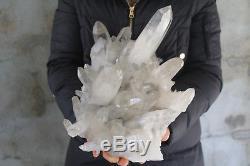7980g(17.5lb) Natural Beautiful Clear Quartz Crystal Cluster Tibetan Specimen